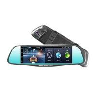 touch screen DVR camera GPS navigation Video Recorder Dash Cam Night Vision Bluetooth rearview mirror Digital 7 inch Wifi 3G FM