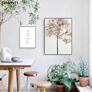Image 4 - Gele Bloem Minimalistische Hand Prints Posters Moderne Inspirational Life Quotes Canvas Schilderij Voor Woonkamer Home Decor Foto