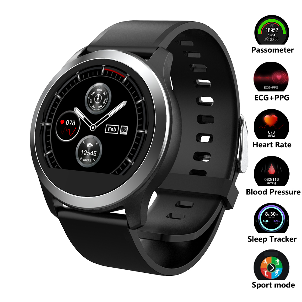 Smart Watch Heart Rate font b Monitor b font Blood Pressure Watch ECG PPG Fitness Watch