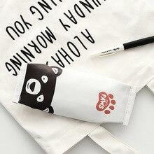Cartoon footprint animal pencil case cute PU pen bag storage pouch Korea Stationery material office school supplies escolar