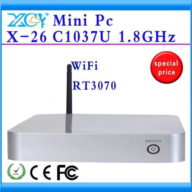 XCY New arrival INTEL C1037U Promotional Price Wireless PC 2G RAM 16G SSD Station Dual Core Mini PC  Support Wifi Touch Screen
