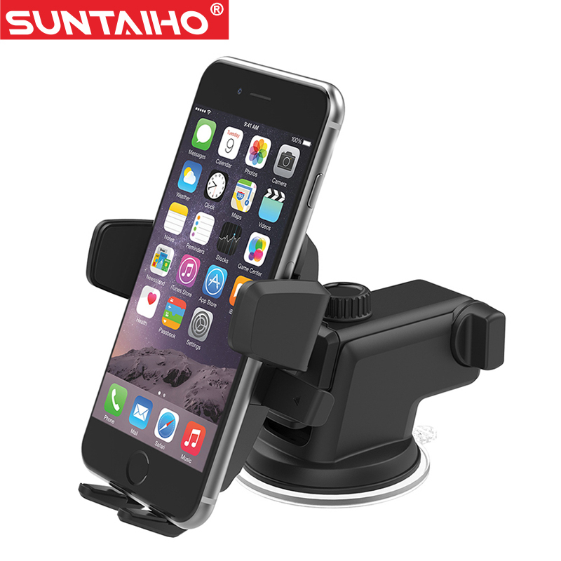 Suntaiho Car Phone Holder Suction Windshield Mount Stand 360 Adjustable Phone Holder For iPhone Samsung GPS Suporte Movil Car