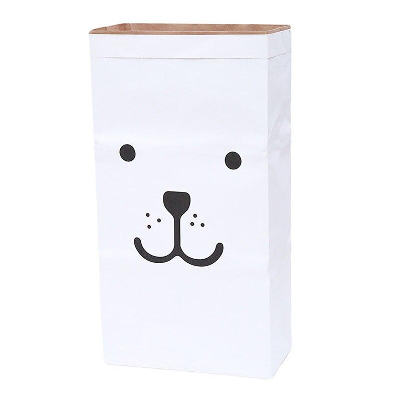 f0dc63b91 Lindas bolsas de almacenamiento de papel Kraft pesadas juguetes de bebé bolsa  de papel Kraft bolsa de lavandería juguetes ropa herramienta organizadora  ...