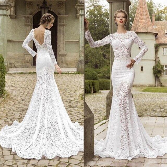 vestidos de novia espalda descubierta encaje