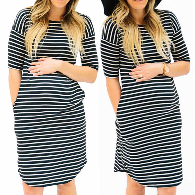 e6f5c242191 Detail Feedback Questions about casual striped maternity clothes pregnancy  dress soft women maternity dress cotton clothes robe femme enceinte 4ot20  on ...