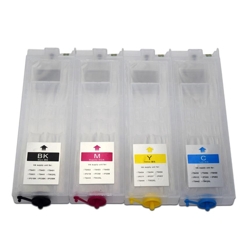 320ml de recarga de cartuchos de tinta para impressora epson workforce pro wf c5290 wf c5790