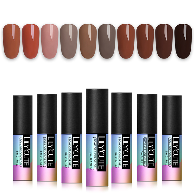 LILYCUTE 1 Bottle 5ml UV LED Pure Nail Color Gel