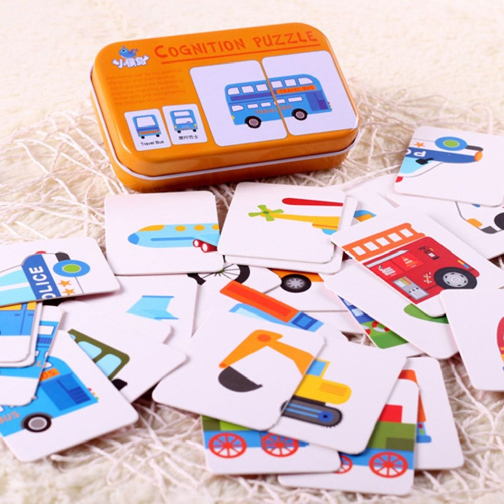 Baby Learning Universal English Animal Card Children Cognitive Card With Iron Carry Box Kids Early Educational Learn Cards Tool