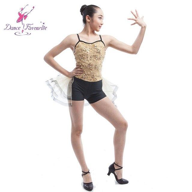 ebb63023b02fe Child gold/black jazz tap dance costume tutu women stage performance dance  costume Ballet /Lyrical dance costume