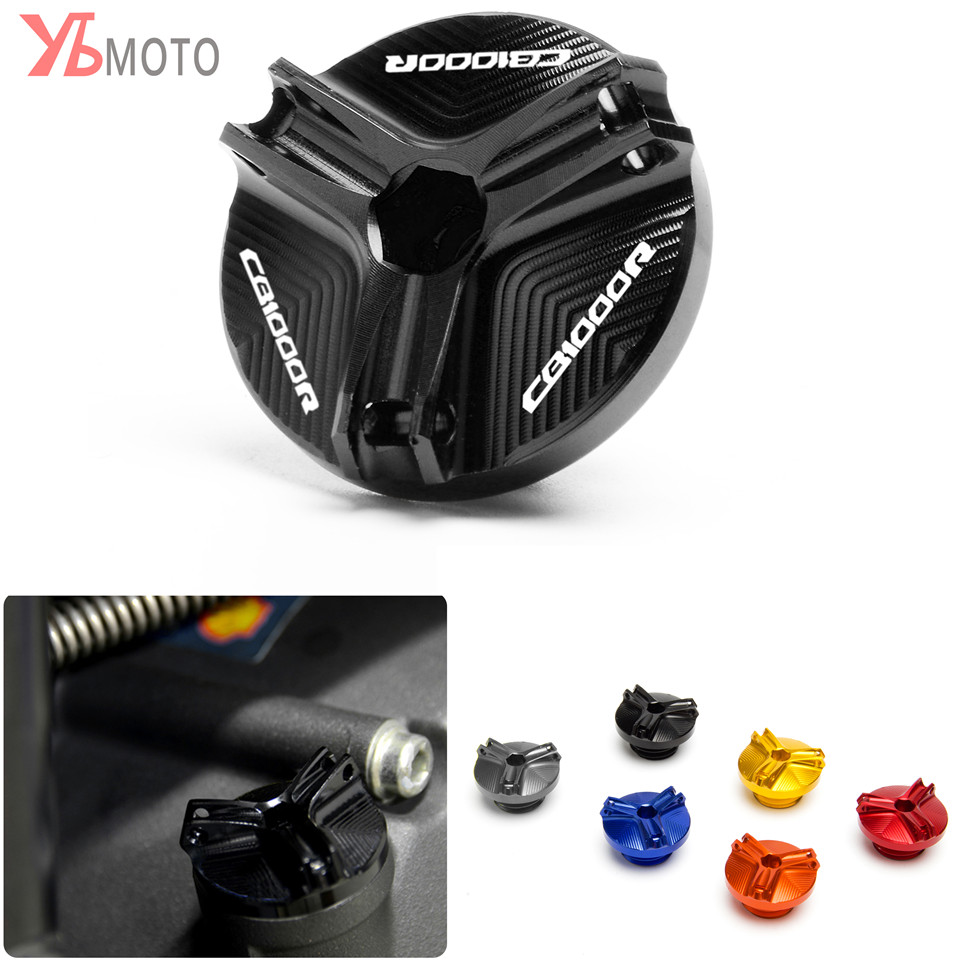 Motorcycle Accessories M20*2.5 Engine Oil Drain Plug Sump Nut Cup Plug Cover For HONDA <font><b>CB1000R</b></font> CB 1000R 2017 <font><b>2018</b></font> 2019 image