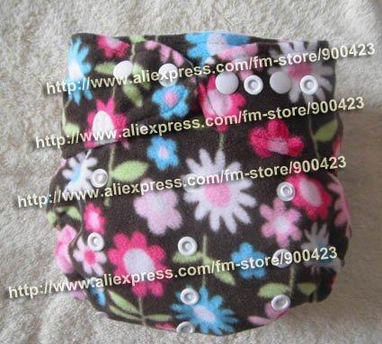 Моющиеся ребенка ткань пеленки 1 шт. ткань пеленки+ 1 шт. вставки - Цвет: flowers