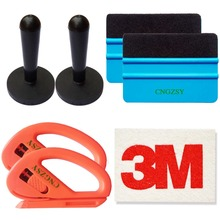 CNGZSY Carbon Fiber Foil Window Tint Tool Kit Car Vinyl Film Magnet Holder Wrap Squeegee Wallpaper Cutter Stickers Scraper K15