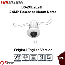 Hikvision Original English Version DS-2CD2E20F 2MP Recessed Mount Dome IP Camera Full HD1080p real-time video CCTV Camera