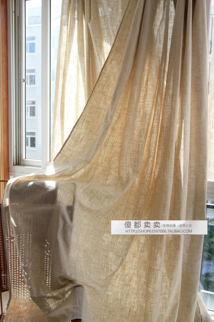 Tende Di Juta.Tessuto Di Lino Tende Piano Balcone Juta Grezza Breve