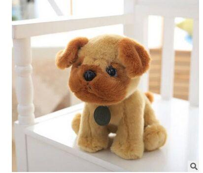 100% new cartoon dog about 25cm squatting dog husky,poodle,Dalmatian,pug,  Pomeranian plush toy soft doll birthday gift b1389