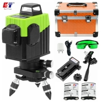 Kaitian 8 Lines Laser Level Bracket Self Leveling 360 Horizontal And Vertical Lines Work Separately Green Lasers Beam Level Tool