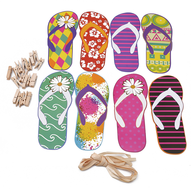41cf1c088ac179 1set Party Banners Summer Hawaii Party Flip Flops Party Wall Hanging Home  Decor Bunting Banner Party Decorations GI976531