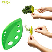 Delidge 1 pc Vegetables Rosemary Thyme Cabbage Leaf Stripper Plastic Greens Herb Stripper Looseleaf Rosemary  Kitchen Gadgets