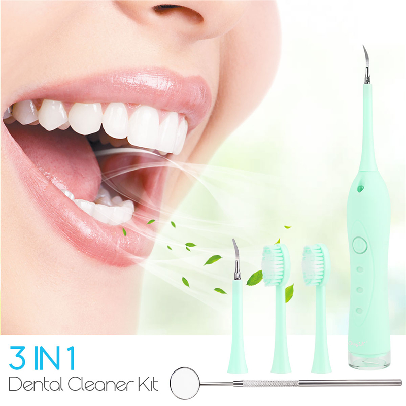 3in1 Electric Toothbrush Professional Dental Calculus Remover Sonic Tartar Tooth Stain Remover Teeth Cleaning Kit With Mirror 31