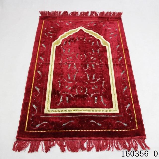 Kalınlaşmak kaşmir müslüman seccadesi High end şönil ibadet halı 110*70cm islam Musallah kilim arap Anti slip mat