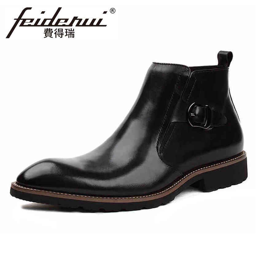 Italian Style Genuine Leather Mens  Ankle Boots Pointed Toe Affordable Handmade Cowboy Riding Man High-Top Shoes YMX224Italian Style Genuine Leather Mens  Ankle Boots Pointed Toe Affordable Handmade Cowboy Riding Man High-Top Shoes YMX224