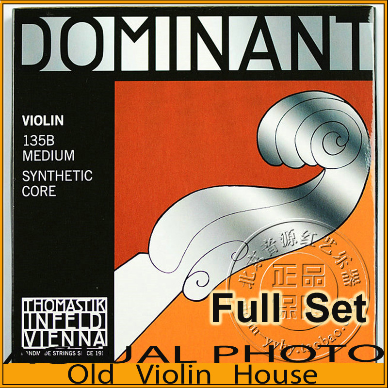 Original Thomastik Dominant 135B Violin Strings , full set,made in Austria ,Free shipping free shipping evah pirazzi violin strings full set ball end made in germany for 4 4
