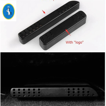 Yimaautotrims Auto Accessory Seat Under Air Condition AC Outlet Vent Cover Trim 2 Pcs For Toyota RAV4 Rav 4 2014 - 2018 Plastic image