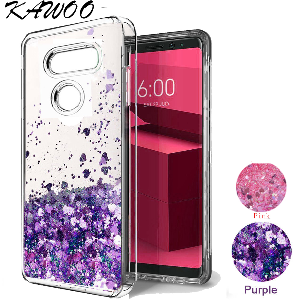 Bling Quicksand Liquid Glitter Clear Soft Slicone Case Cover For LG G6 V20 V30 Dynamic Love Heart Capa For LG G4 Stylus 3 Q6 K20