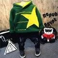 Crianças coreanas 2016 inverno new boy scout crothet bebê de todos os jogo casaco de cashmere com capuz grosso camisola com frete grátis