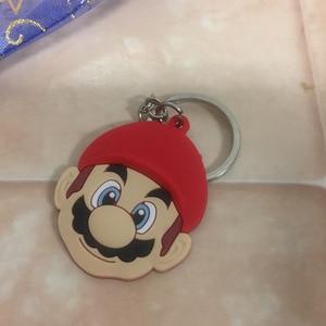 Image 5 - 20PCS Sleutelhanger PVC Cartoon Sleutelhanger Marvel Mickey Super Mario Anime Figuur Sleutelhanger Sleutelhanger Key Holder Fashion Charms trinket