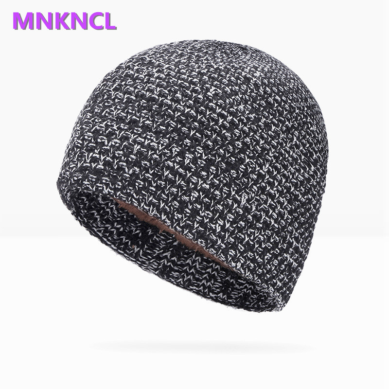 2017 New Keep Warm Internal Plush Hat Winter Men Women Skullies Beanies Thickening Hedging Cap Knit Knitting Caps Bonnet the new 2016 han edition affixed cloth wave cap hat hat tip to keep warm letter knitting hat qiu dong men and women
