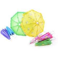 Пластик кружевной зонтик для дял 18-дюймовой куклы кукла ручной работы для фантазийный зонтик для куклы Барби аксессуары для игрушечной куклы