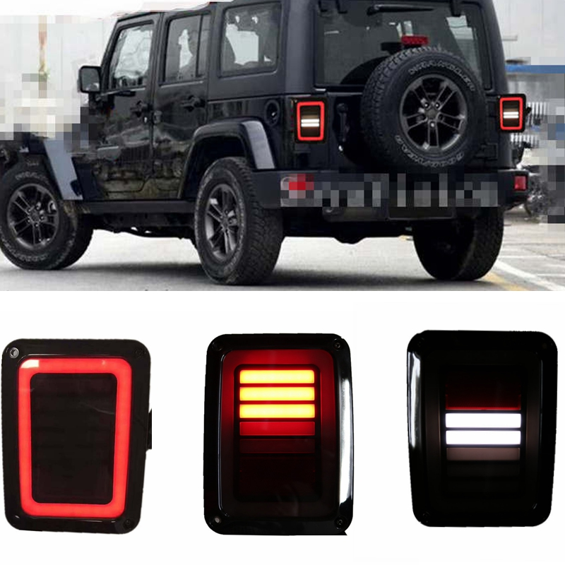 USA EU edition reverser brake turn signal LED rear tail light For Jeep wrangler Parts Tail