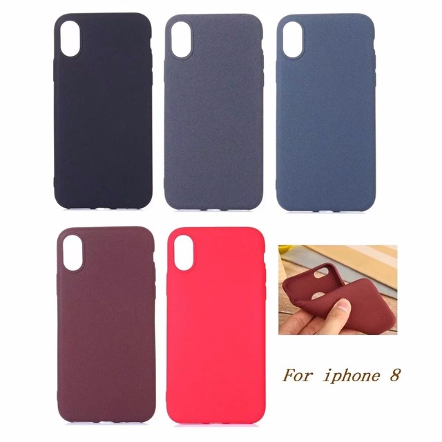 buy popular 0cb92 4e641 US $5.99 |NEW case for iphone x all inclusive soft shell tpu Sandstone feel  phone shell For iphone 10 Case cover caps -in Fitted Cases from Cellphones  ...