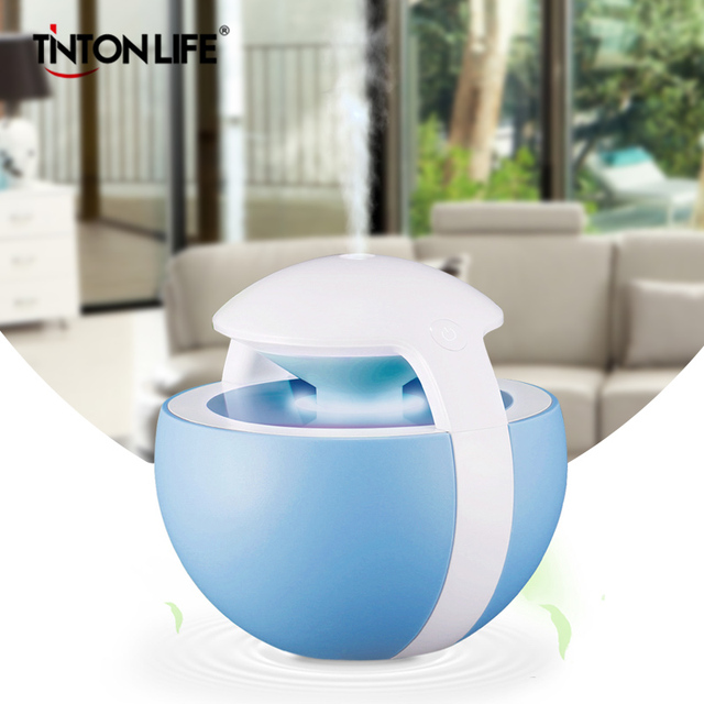 TINTON LIFE 450ML Ball USB Humidifier With Seven Colors Night Light Timer Air Humidifier Atomizer Home Office Humidificador Humidifiers