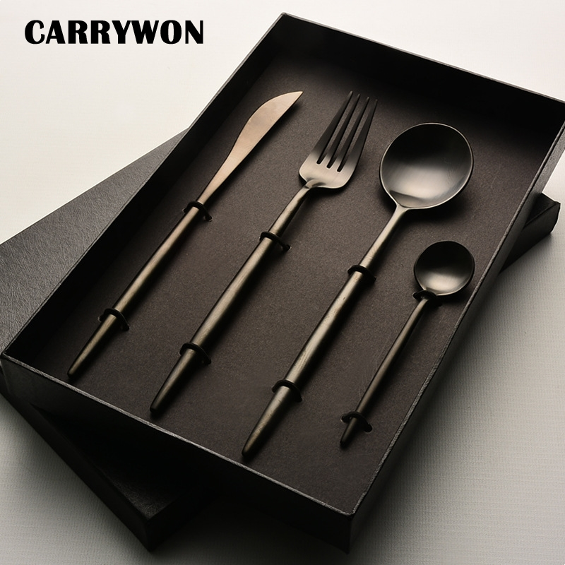 Carrywon Wholesale Black Cutlery Stainless Steel