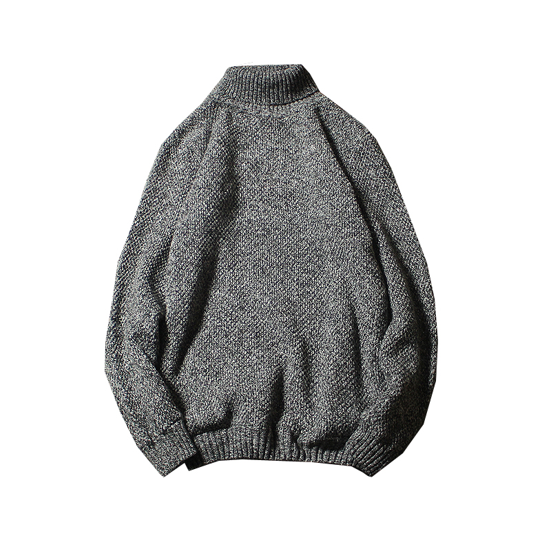 Men's Sweater High Lapel Pullover Sweater Men's Turtle Neck Fleece Sweater Men Clothes Winter Spring Fashion Clothes 5XL