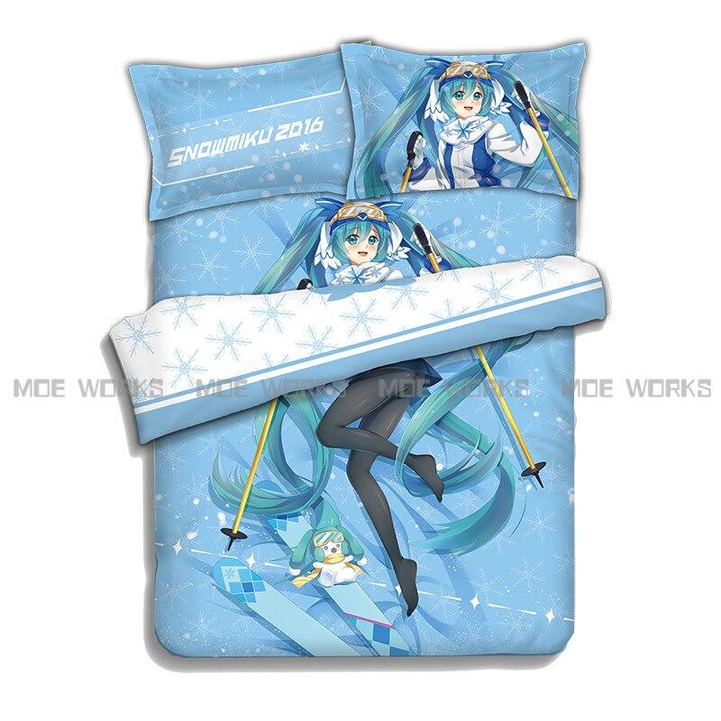 VOCALOID Hatsune Miku Yuki conjunto cubierta del Edredón, ropa de Cama de Dormit