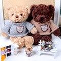 2017 new 30cm cute Cartoon teddy bear wear retro sweater plush toy Creative Gifts