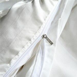 Image 5 - LOVINSUNSHINE Juego de cama de edredón de seda tamaño King, lino, doble flor