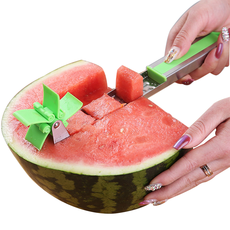 KHGDNOR Watermelon Cutter Windmill Shape Plastic Slicer for Cutting Watermelon Power Save Cutter форма для нарезки арбуза