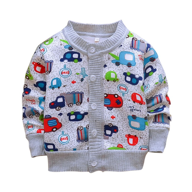 Autumn Cartoon Baby Coat Long Sleeve Cartoon Knit Cardigan Girl Jacket Fashion Baby Girl Boy Clothes