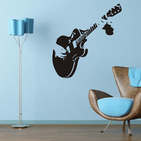 ZUCZUG Guitar Music Wall Art Decal Sticker Choose Name Number Personalized Home Decor Wall Stickers For