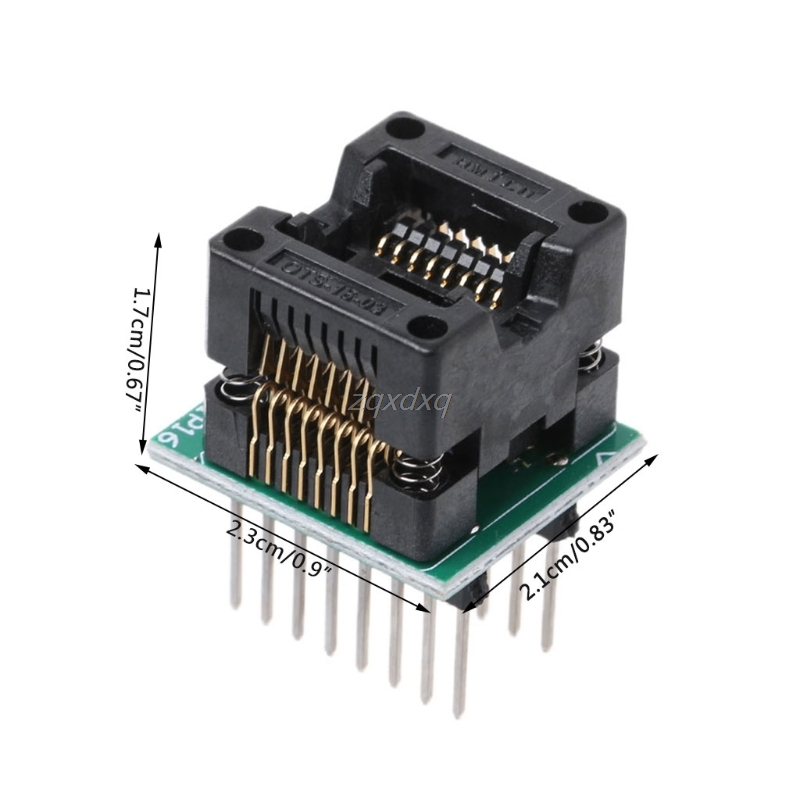SOP16 к DIP16 SOP16 отложным воротником DIP16 SOIC16 к DIP16 IC разъем программист адаптер гнездо 150mil и Прямая поставка