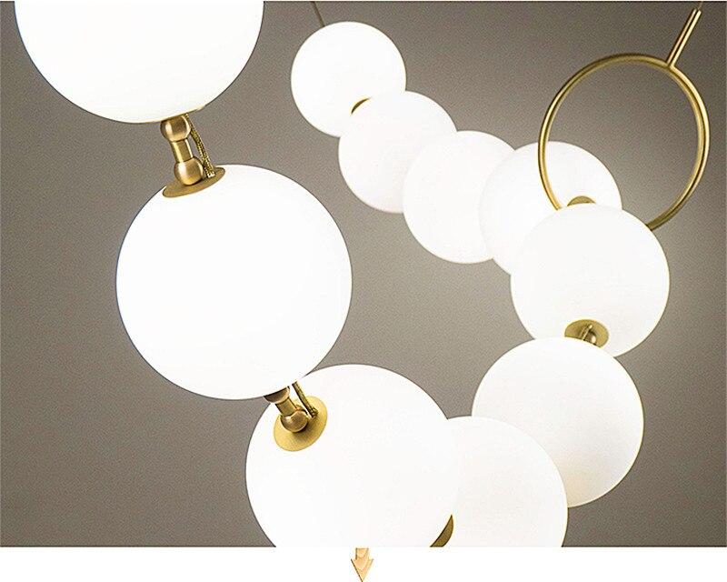 Led Chandelier Glass Ball Light for Living Room Bedroom Furnitur Lamp Pendant Modern Light Luxury Led Ceiling Chandelier Lamp in Chandeliers from Lights Lighting