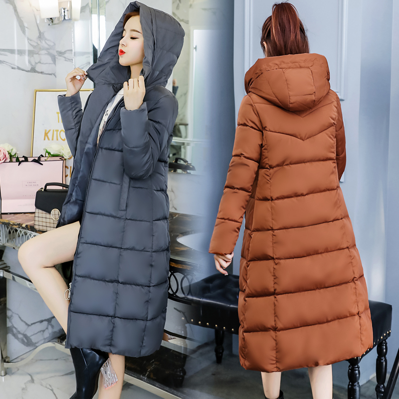 27ecd9c62503f 2018 Winter Jacket women Plus Size 4XL Womens Parkas Thicken Outerwear  hooded Coats long Female Slim Cotton padded basic tops-in Parkas from  Women s ...