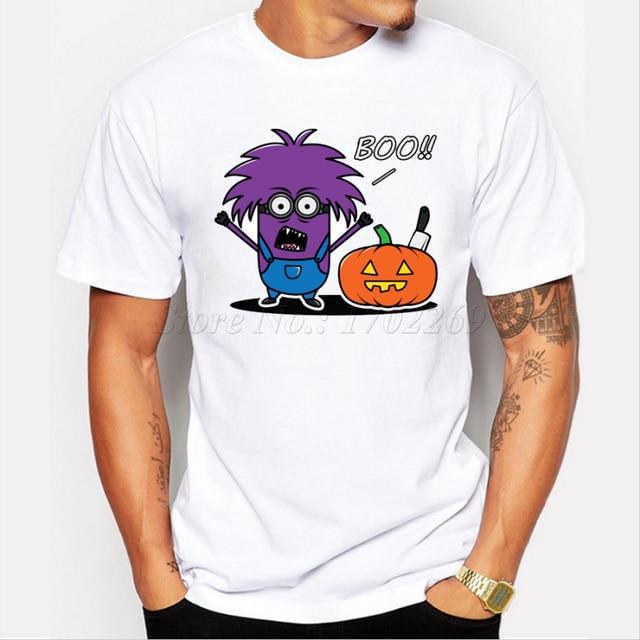 Asian Size Cartoon Minion Halloween design men funny t shirt ...