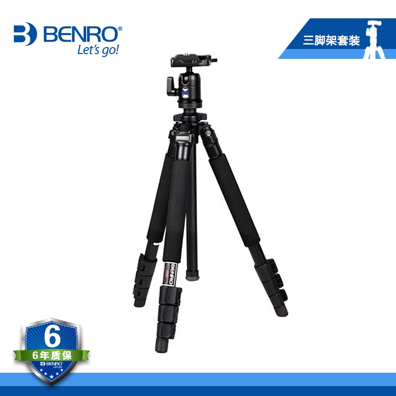 BENRO A350FBH0 Pro Aluminum Tripod With BH0 Ballhead Bubble Level Monopod 4 Section+Carrying Bag Kit, Max loading 4kg