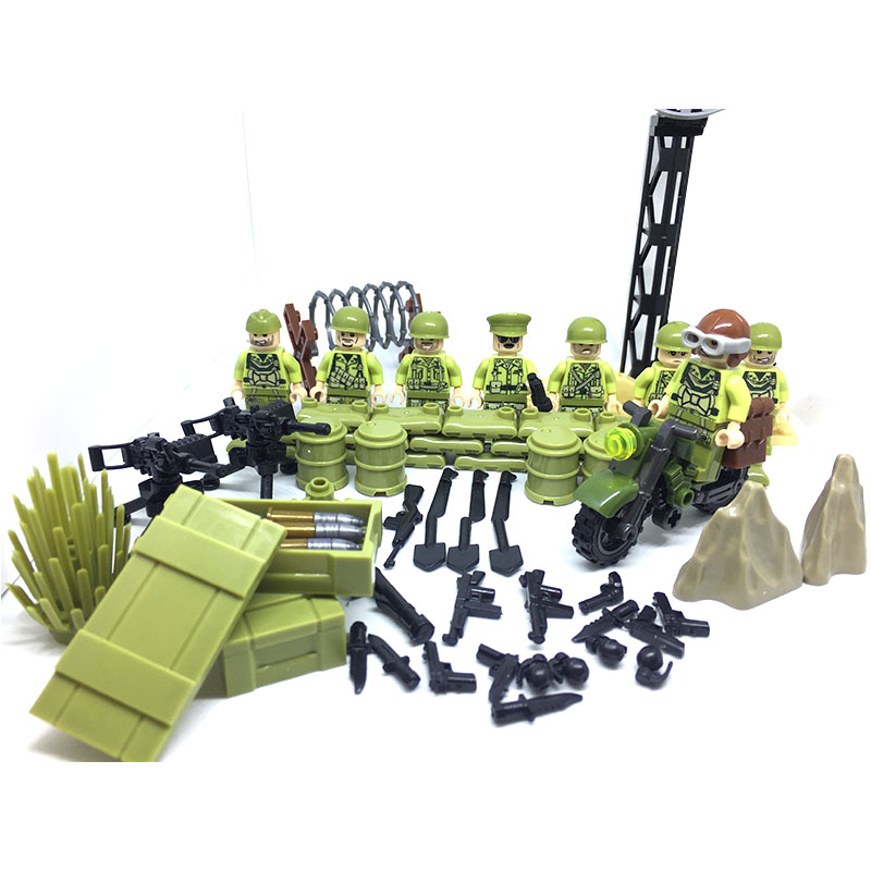 HOT Weltkrieg 2 tunisia campaign us fifth army military gun model building block toy  Military Figures compatible LegoINGlys