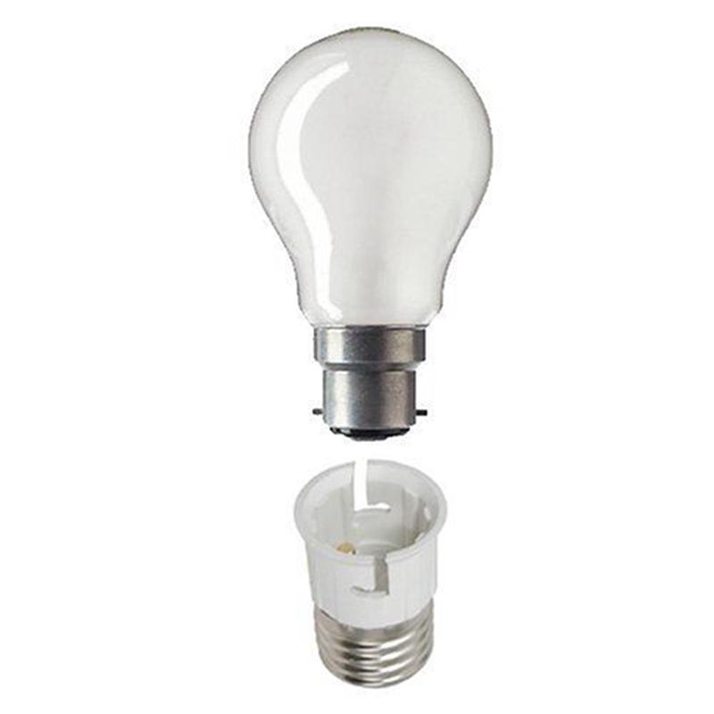 E27 To B22 Light Lamp Bulb Fireproof Holder Adapter Converter Socket Base Converter Edison Screw To Bayonet Cap